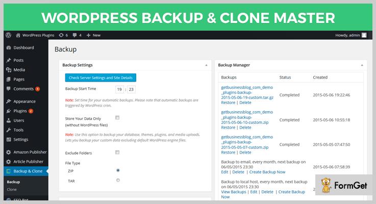WordPress Backup & Clone Master
