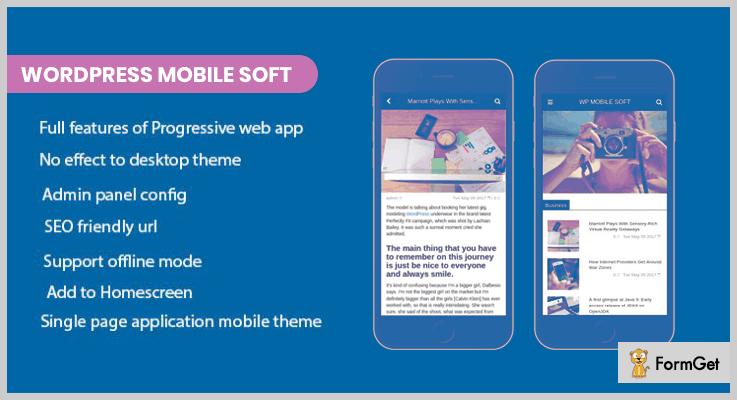WordPress Mobile Soft WordPress Web App Plugin