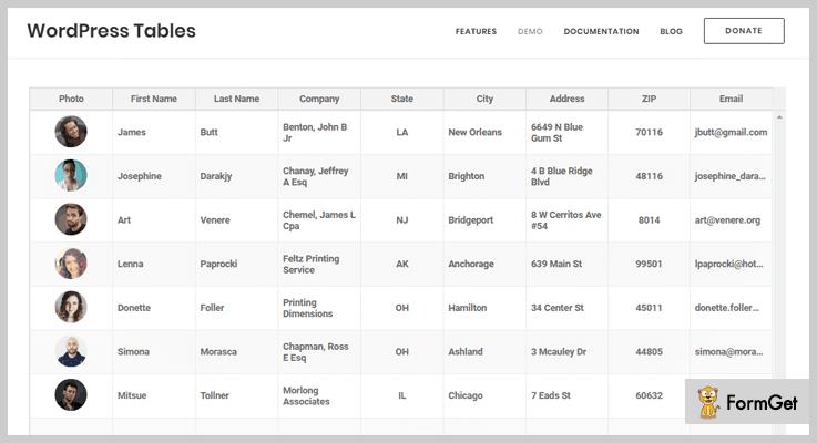 Table WordPress Plugins