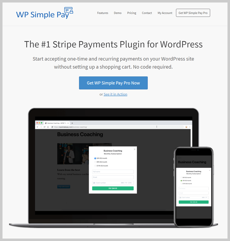 WP Simple Pay Pro - Stripe WordPress Plugins