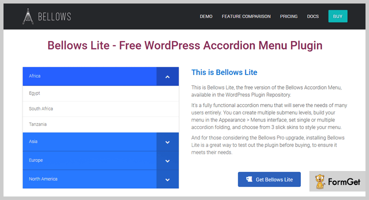 accordion wordpress plugins bellows-accordion-menu