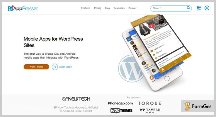 Apppresser WordPress Web App Plugin