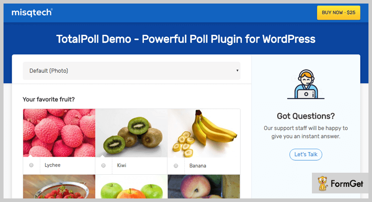 best-survey-wordpress-plugins-totalpoll-demo