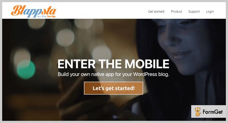 Blappsta WordPress Web App Plugin