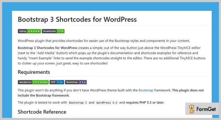 Bootstrap WordPress Plugin