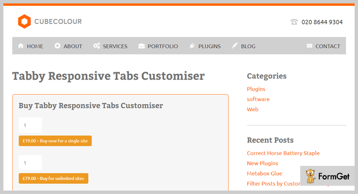 Tabby Responsive Tabs Customiser