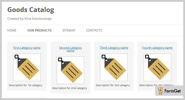 Catalog WordPress Plugin