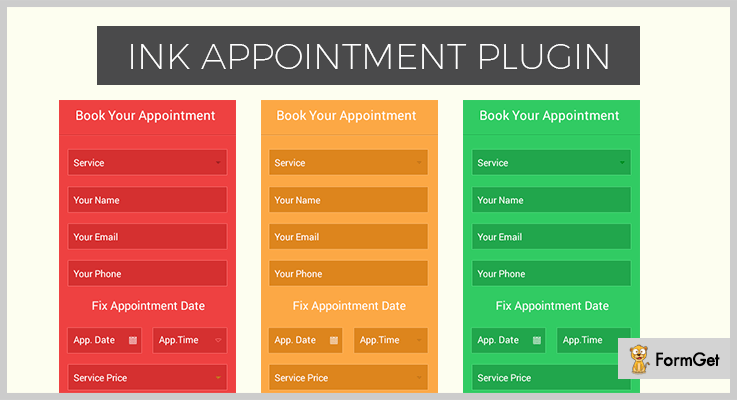 ink-appointment-Booking WordPress Plugins