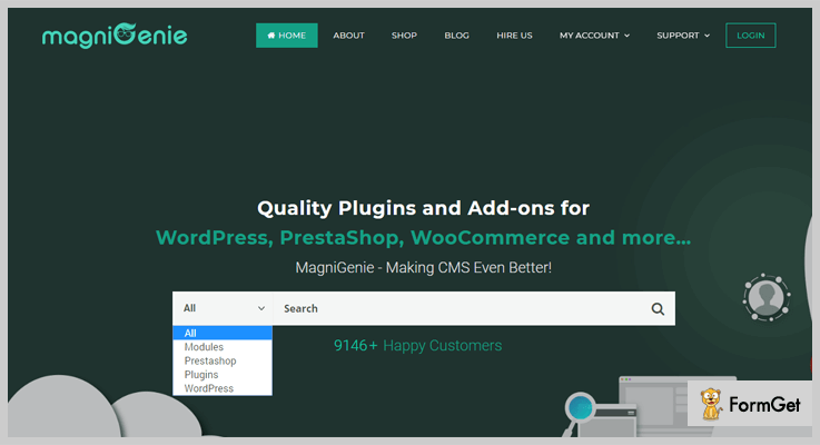 magniGenie menu WordPress plugins