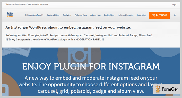 Enjoy Plugin For Instagram