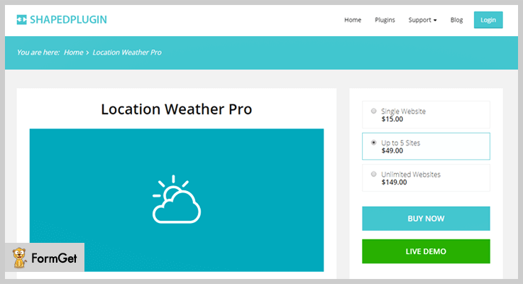Weather WordPress Plugin