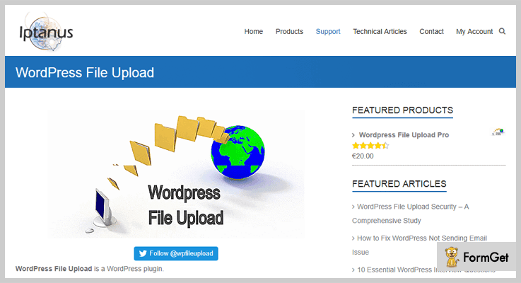 upload file wordpress plugins wordpress-file-upload-pro