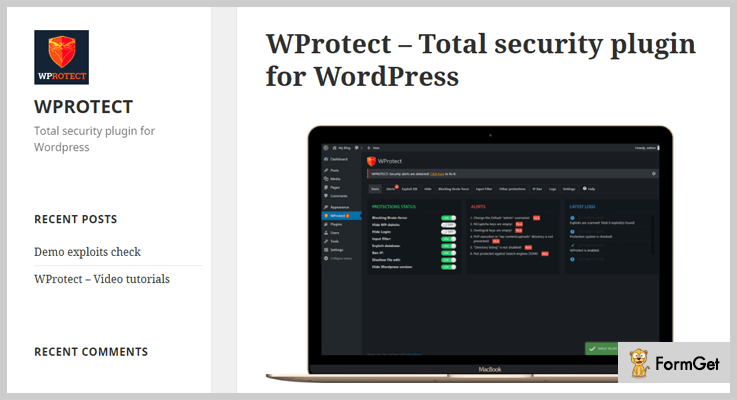 vulnerability scanner wordpress plugins wprotect