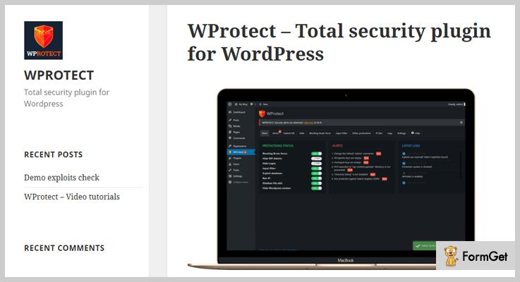 vulnerability scanner wordpress plugins wprotect