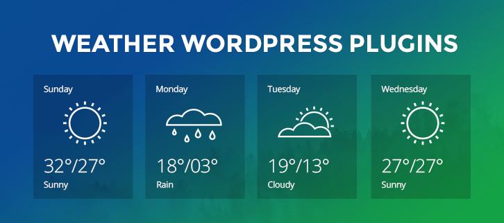 7 Weather WordPress Plugins 2020 Free