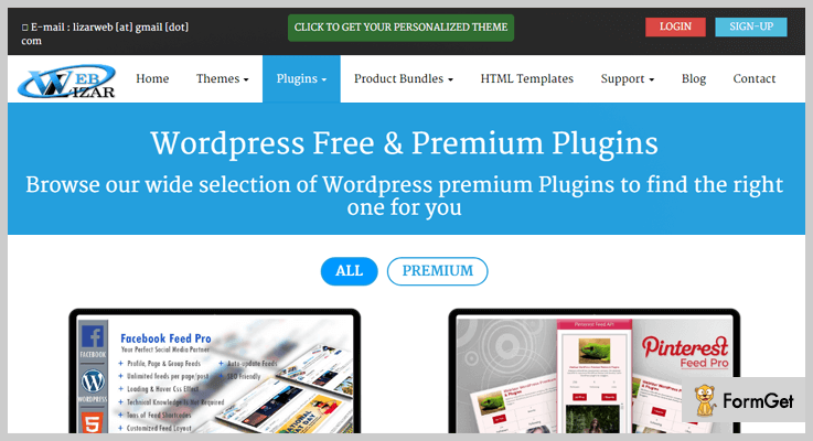 login wordpress plugins weblizar