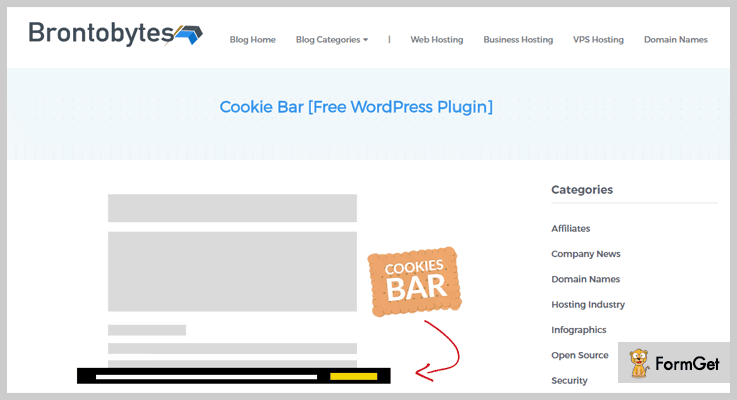 wordpress cookie plugins cookie-bar