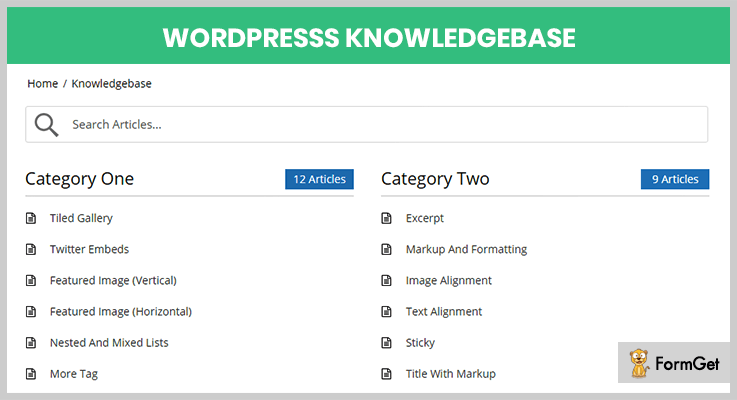 Knowledge Base WordPress Plugin