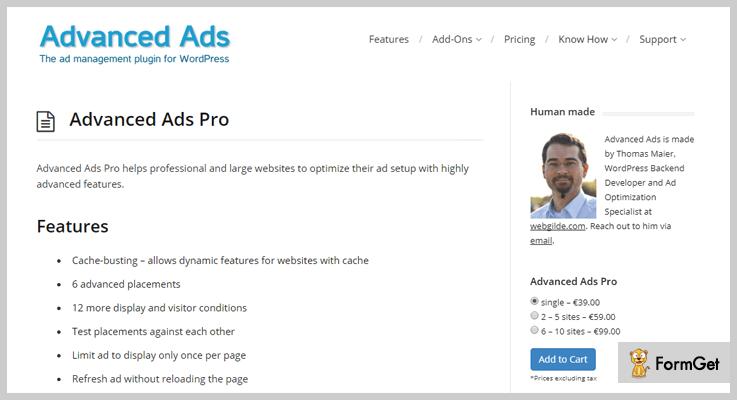 wpadvancedads - Ad WordPress Plugins