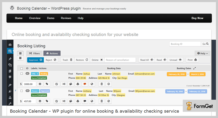 wpbooking calendar Booking WordPress Plugins