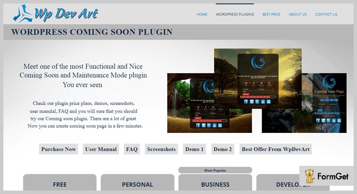 coming soon wordpress plugin