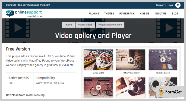 VIDEO GALLERY & PLAYER