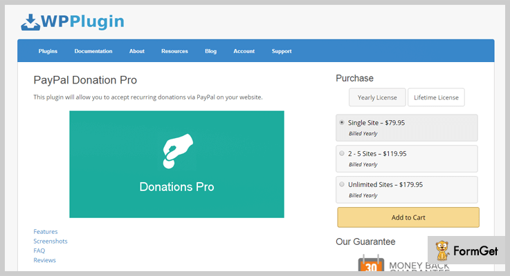 paypal donation pro
