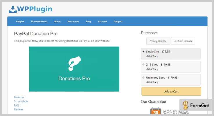 paypal donation pro