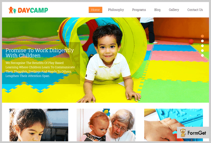 Day Camp Day Care Play School WordPress Theme