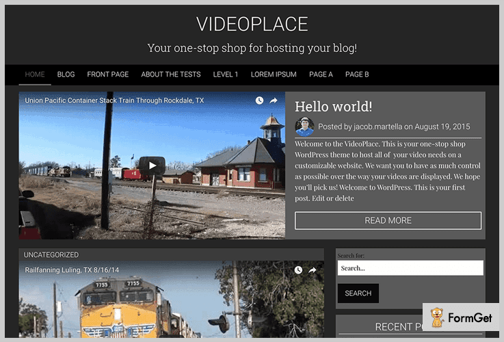 VideoPlace WordPress Theme