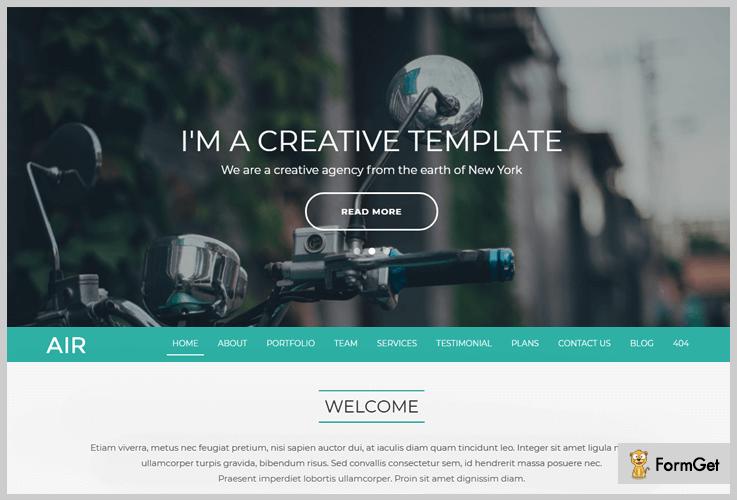 Air HTML WordPress Theme