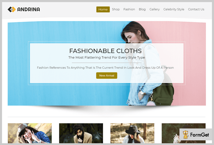 Andrina Model Agency WordPress Theme
