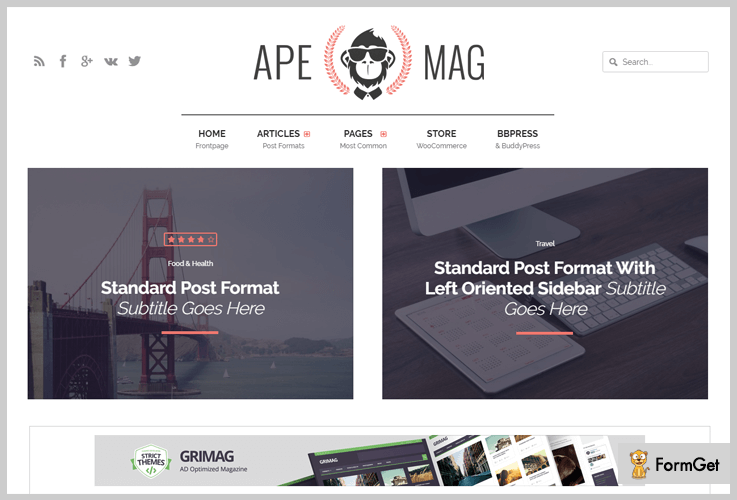 Apemag Reviews WordPress Theme