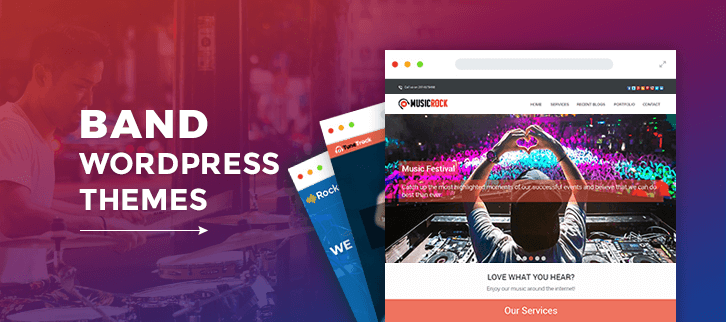 5+ Band WordPress Themes 2018 (Free and Paid)