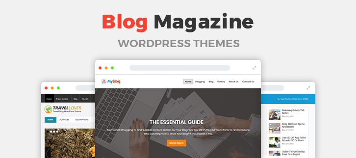 5+ Blog Magazine WordPress Themes 2018 (Free and Paid)