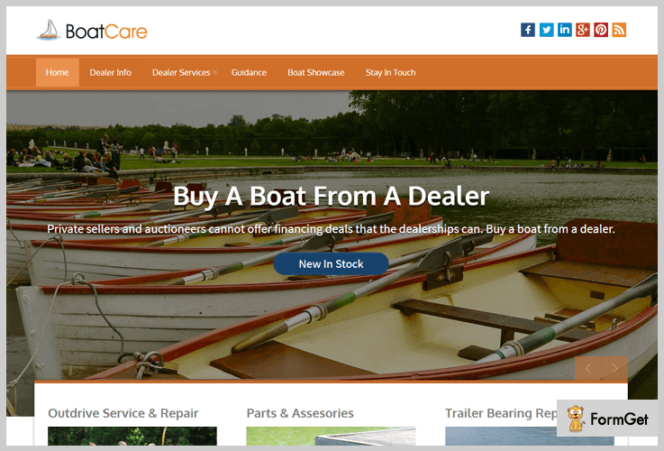 BoatCare Sailing WordPress Theme
