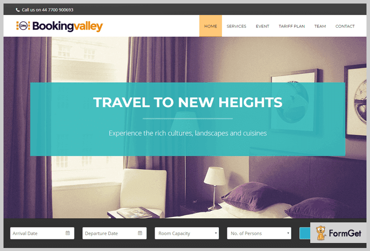 BookingValley Single Page WordPress Theme