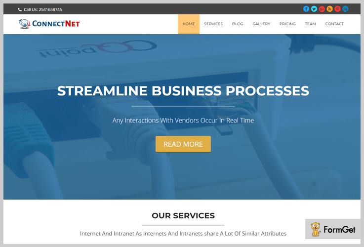 ConnectNet Intranet WordPress Theme