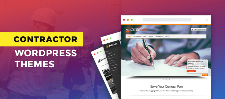 5+ Contractor WordPress Themes 2019 (Free and Paid) | FormGet
