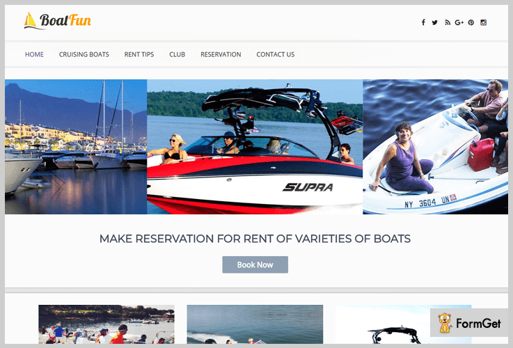 BoatFun- Vacation Rental WordPress Themes
