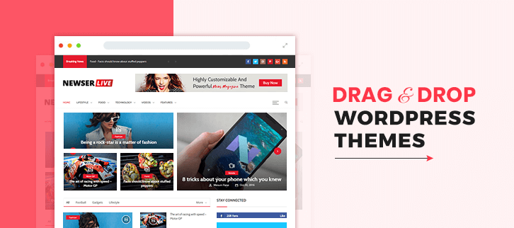 Drag And Drop WordPress Themes