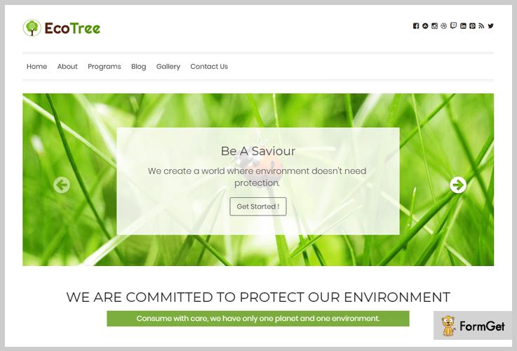 EcoTree Nature WordPress Theme