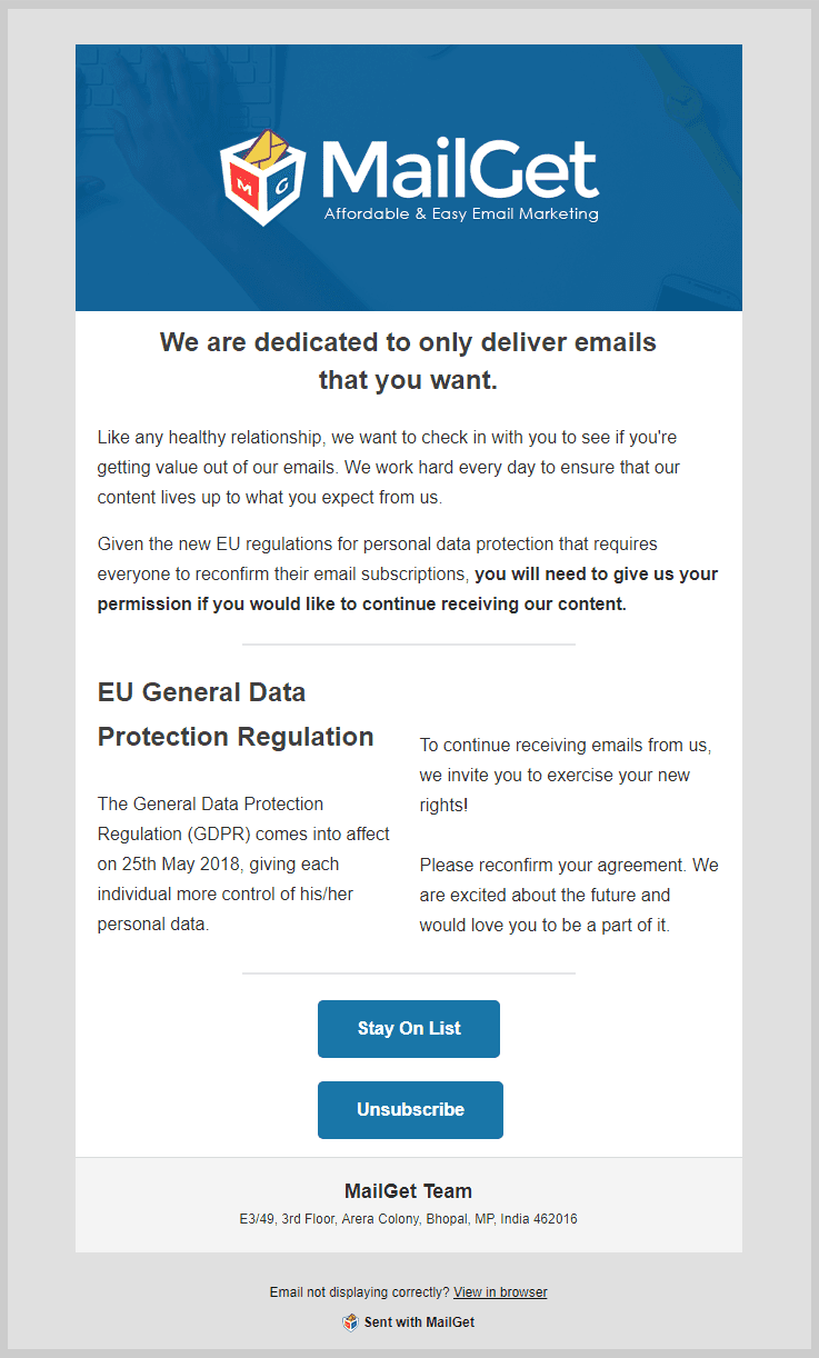 GDPR Email Template New
