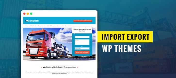 Import Export WordPress Themes