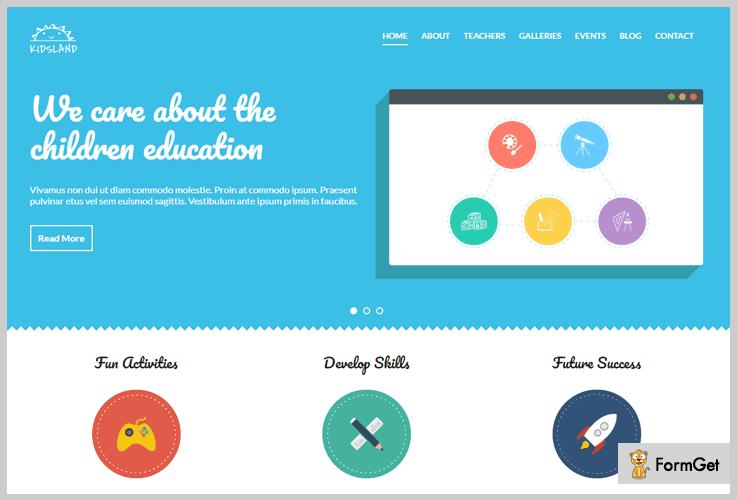 Kids Land HTML WordPress Theme