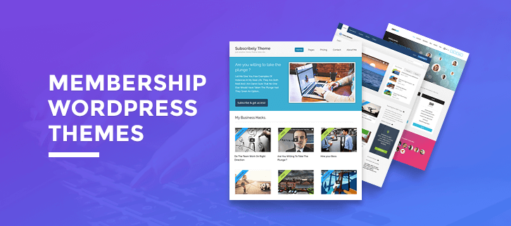 5+ Membership WordPress Themes 2018