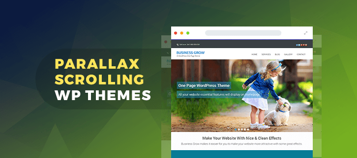 Parallax Scrolling WordPress Themes