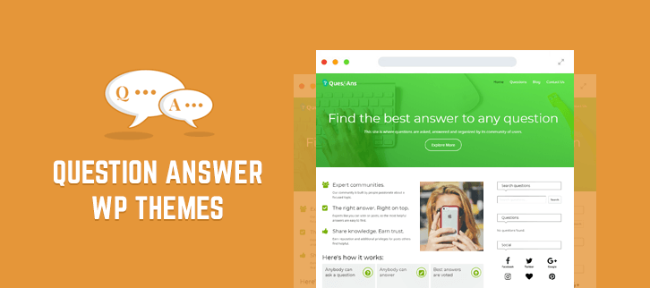 5+ WordPress Themes For Question Answer 2018