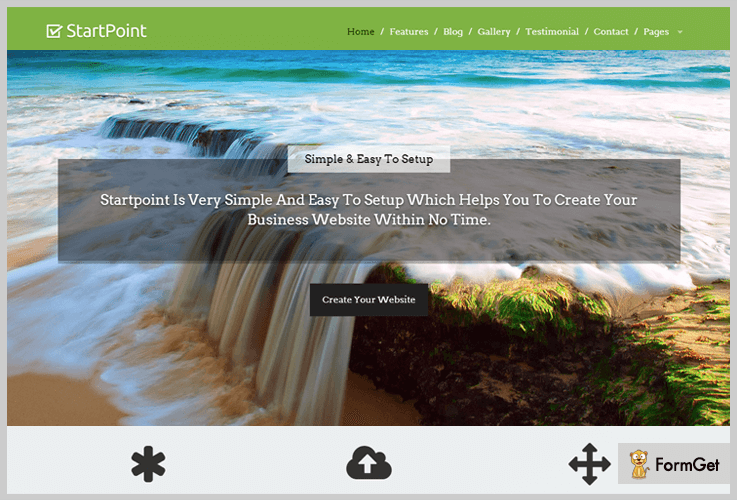 StartPoint Single Page WordPress Theme