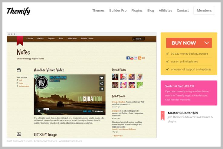 Themify - Video header Plugin